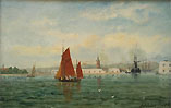 Adolphus Knell Oil painting of Portsmouth