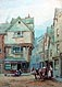 Alfred Leyman - Exeter Street - Watercolour