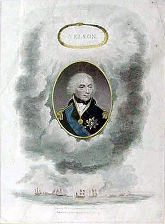 Antique Print of Nelson