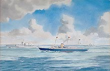 Royal Yacht Britannia old watercolour for sale