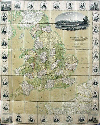 Antique Map of England and Wales by Robert Seaton 1830
