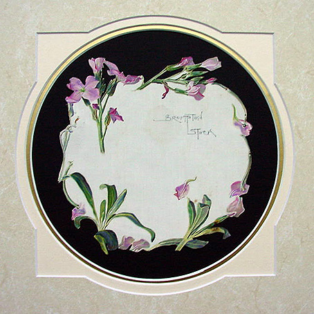 Flower Picture on Silk dated circa 1920 - Brompton Stock