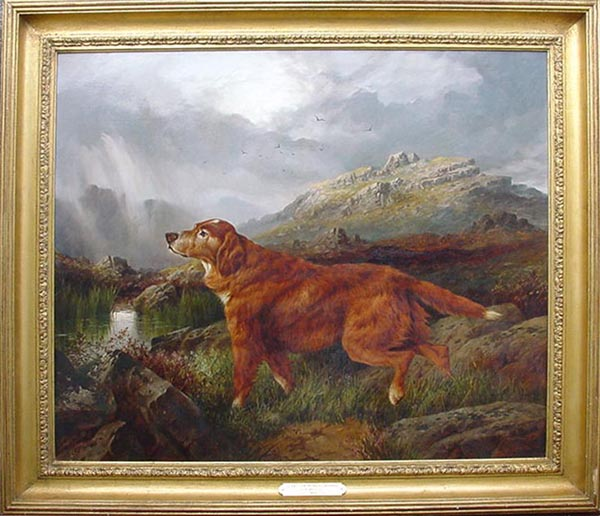 Charles Edward Brittan - Red Setter Oil Painting