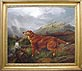 Charles Edward Brittan - Red Setter in a Highland Landscape