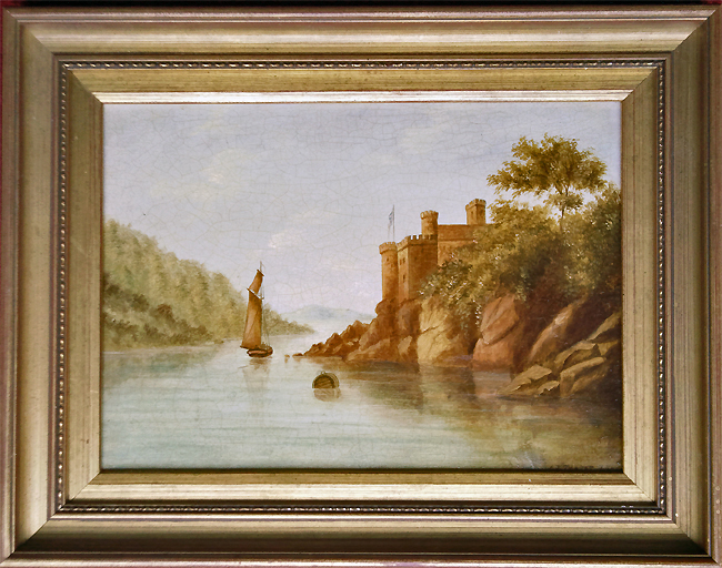 possibly Dartmouth Castle dated 1863