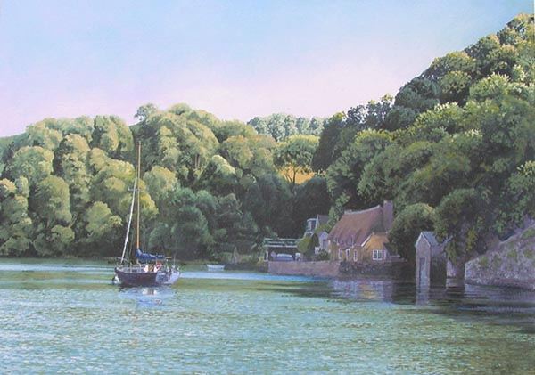Smuggler's Cottage Dittisham - River Dart by John Gillo