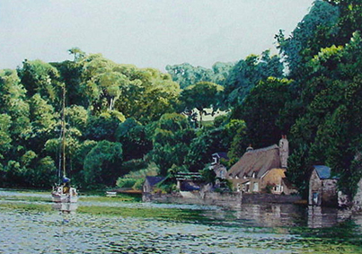 Fine Art Print of Smugglers Cottage Dittisham