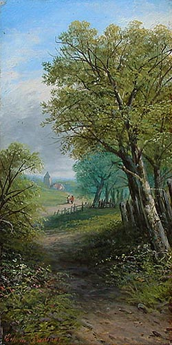 Edwin Buttery - Antique oil Painting