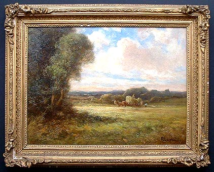 Antique oil painting by Percy Leslie Lara
