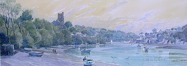 Evening Noss Mayo - River Yealm South Devon - Fine Art Print