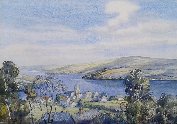 Donald Greig watercolour of Salcombe for Sale