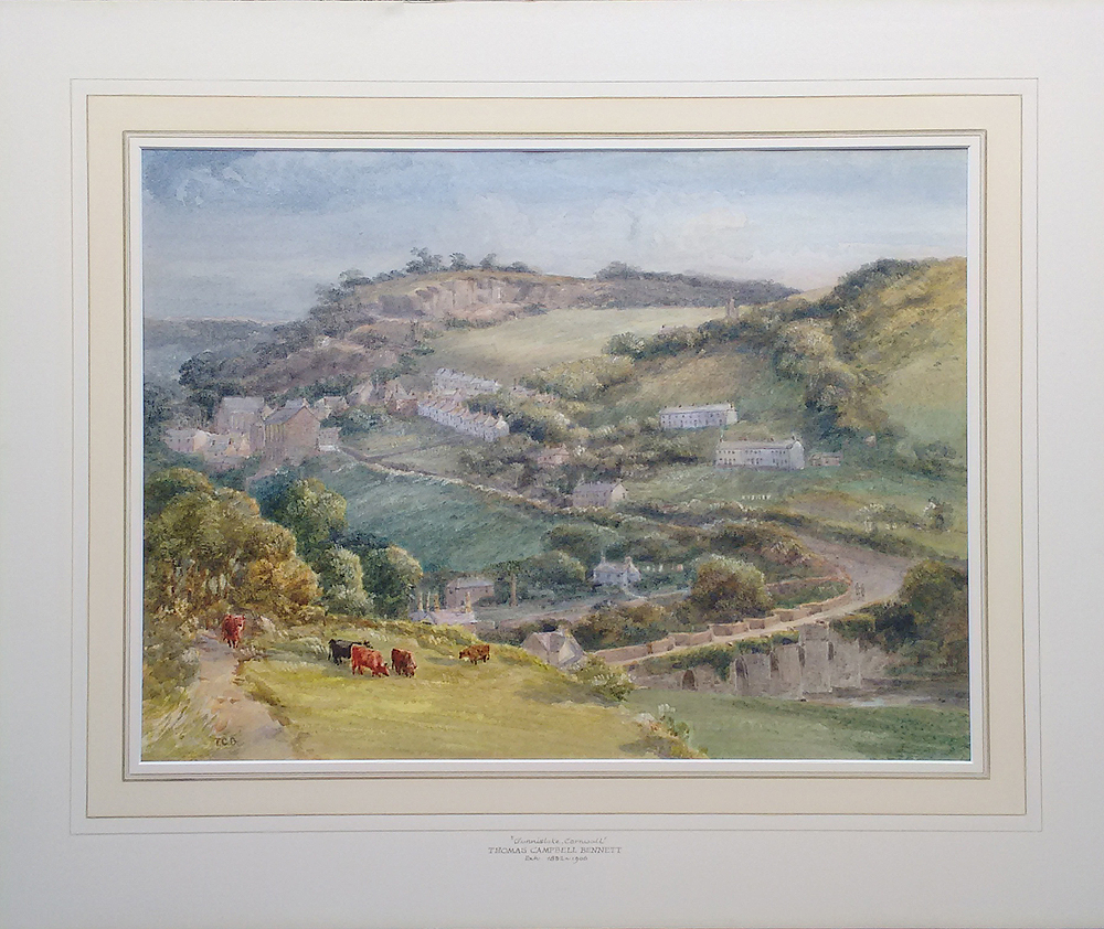 Gunnislake Cornwal antique watercolour