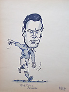 Hobbs cartoon Bob John Arsenal Footballer
