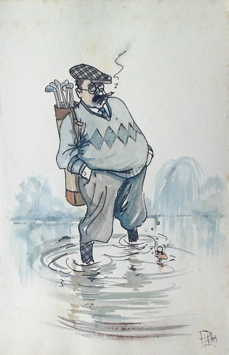 Old golf cartoon by Peter Hobbs