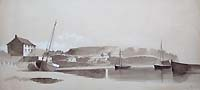 Antique watercolour of Hooe Plymouth for sale