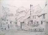 Hope Cove Victorian pencil sketch