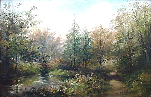 George Henry Jenkins - Cann Woods- River Plym near Marsh Mills Plymouth