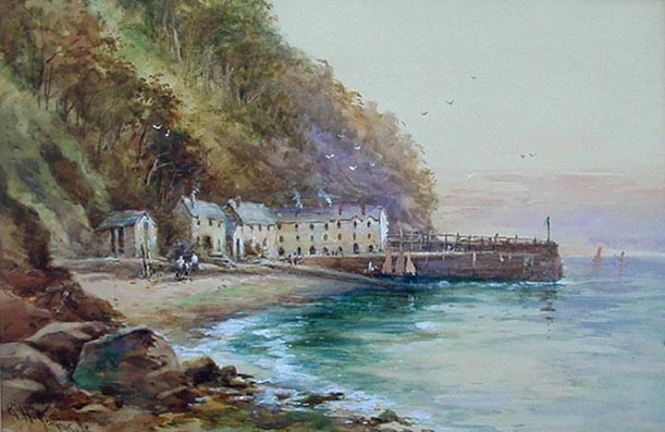George Henry Jenkins Junior - Clovelly Watercolou