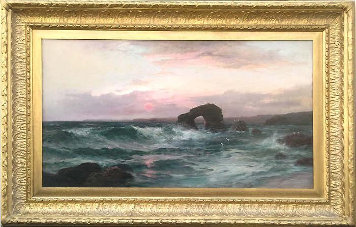 Antique Oil Painting Thurlestone Devon George Henry