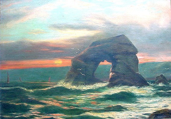 G H Jenkins - Thulestone Rock from South Milton Sands