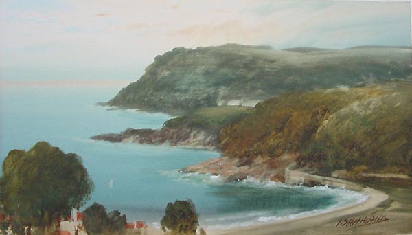 John Shapland - North Sands Salcombe - Watercolour