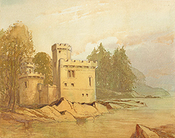 Kingswear castle painting by Caulkin for sale