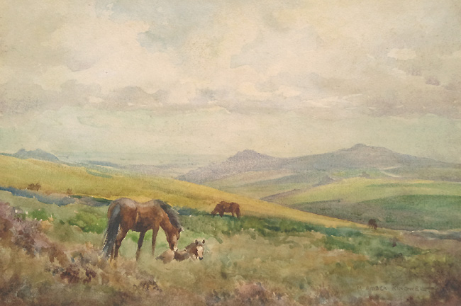 Dartmoor Ponies by Mabel Amber Kingwell