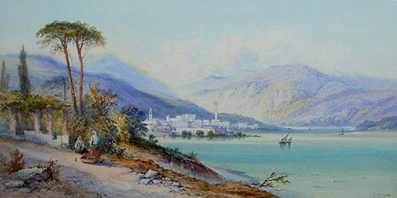 Lake Lugano by Edwin St, John
