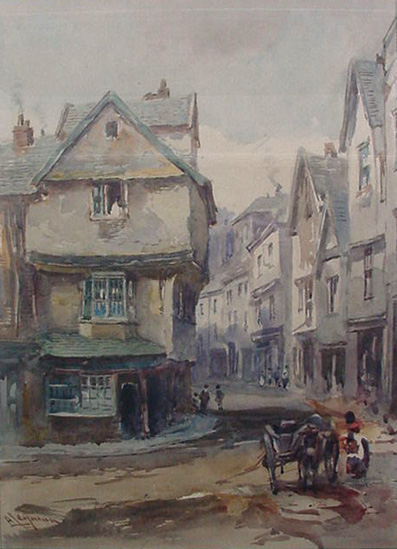 Alfred Leyman - Frog Street Exeter