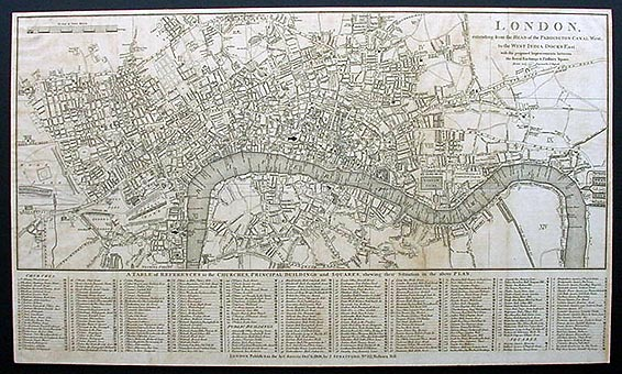 Antique Map of London 1806 by John Russell