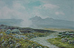 R J Lugg-Nr Kestor Rocks-Dartmoor-Warercolour and Bodycolour
