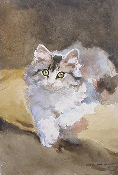 Mabel Amber Kingwell - Study of a Kitten