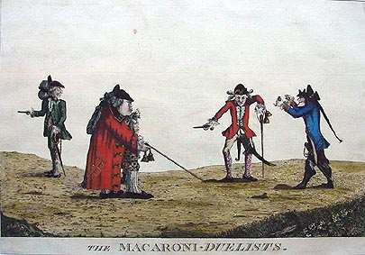 Antique Duelling Print