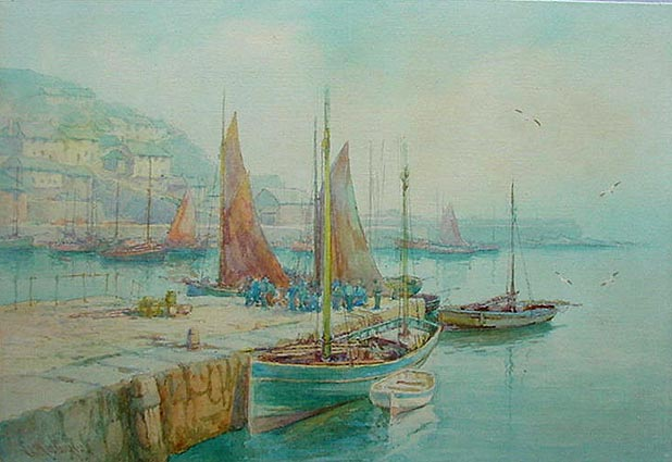 Mevagissey Harbour by Lewis Mortimer