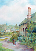 Lewis Motimer - Southpool Devon Watercolour