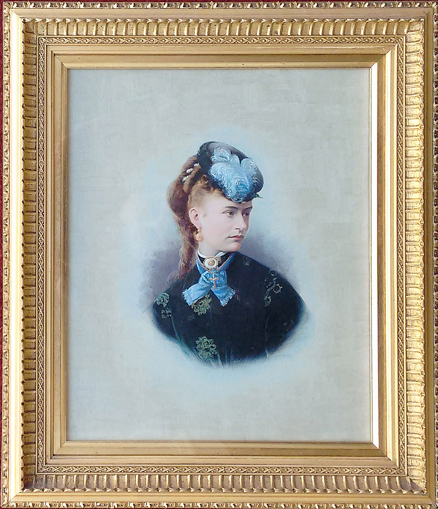 Mrs Widgery oil portrait