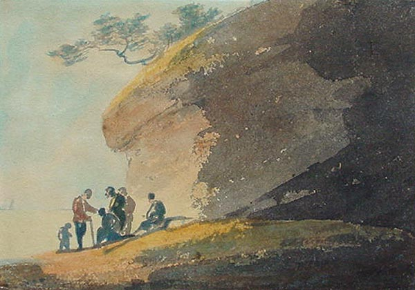 William Payne Coastal Scene with Figures