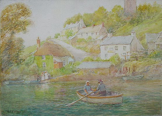 The SWan at Noss Mayo by William Darton
