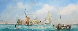 Richmond Markes marine painting of Portsmouth