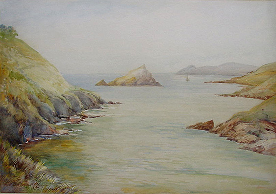 Mouth of the River Yealm 1920 by A. J. Connabeer