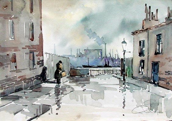 Charles savage - Street Scene and Harbour