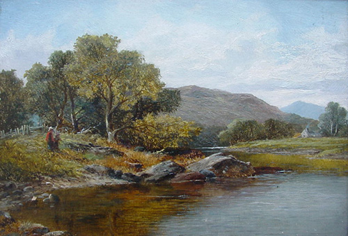 J. Scott-Callowhill - On the Wye near Builth