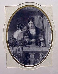antique print spanish women