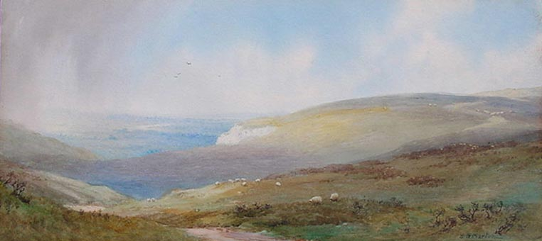 Elliot H Marten - Rain Showers possibly Sussex Downs