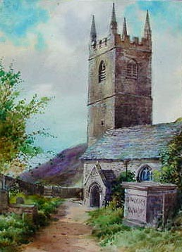W H Sweet - Morwenstow Church Cornwall