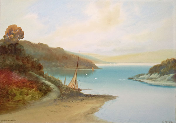 Salcombe 1920 painting by G. Trevor