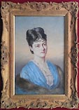 Victorian female portrait painting