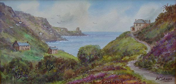 W Sands T H Victor Lamorna Cove Antique Painting