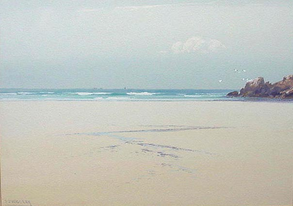 Bude Beach Cornwall by Frederick John Widgery