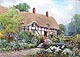 William Outhwaite watercolour - Ann Hathaways Cottage